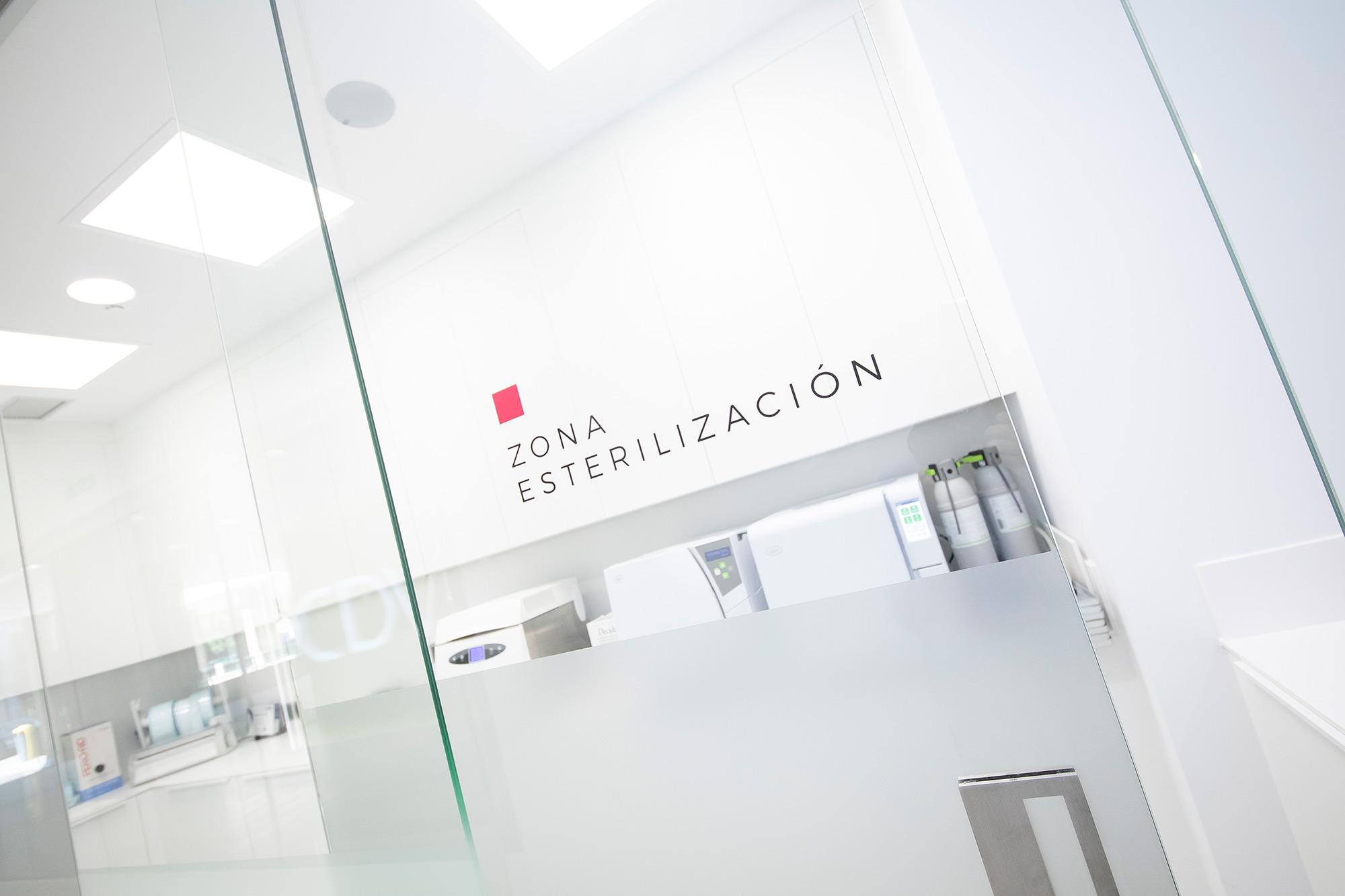 Zona de esterilización de la Clínica Dental Villava