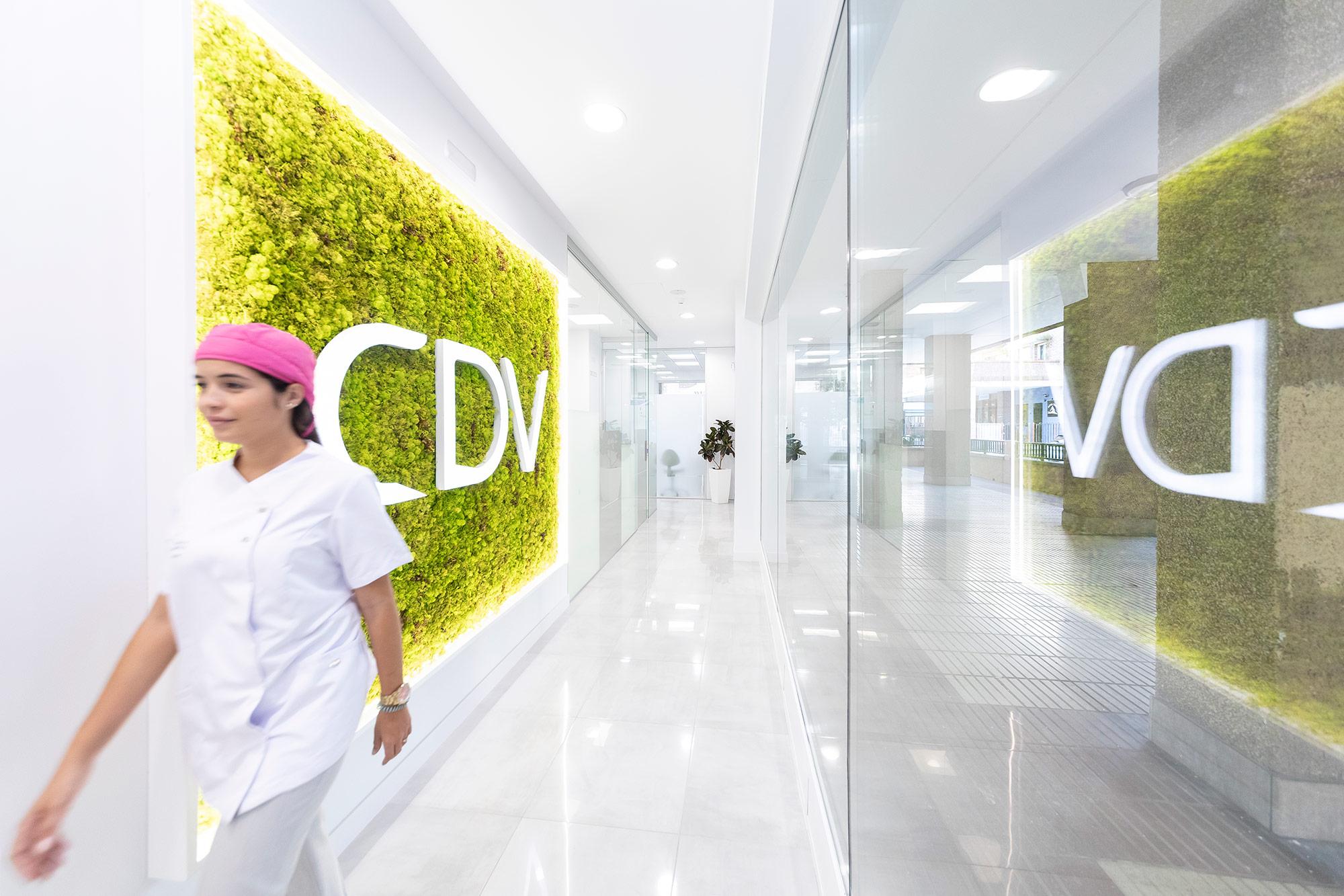 Pasillo de la Clínica Dental Villava