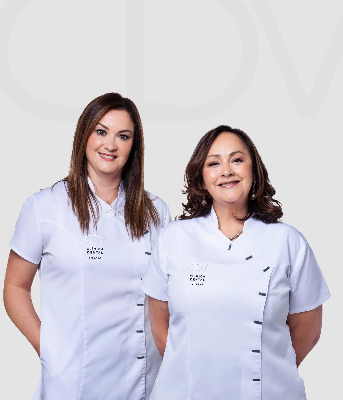 Marina y Lourdes del equipo de la Clínica Dental Villava