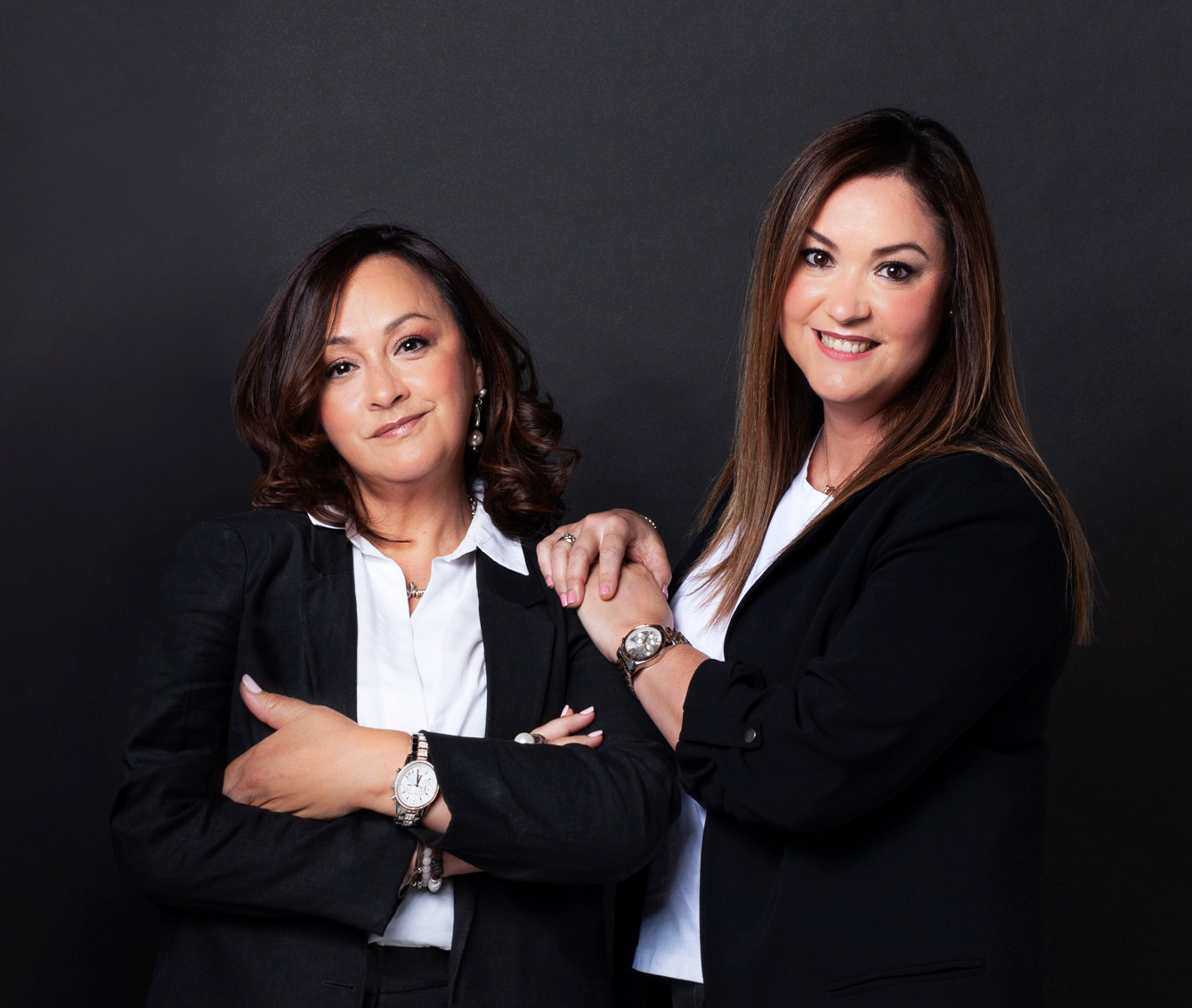 Marina y Lourdes de Clínica Dental Villava